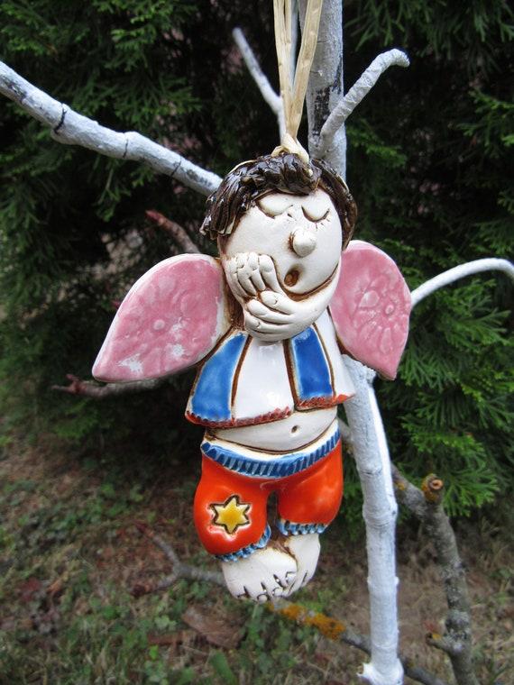 Angel Statue Ceramic Sculpturewall Decorgifts For Herhome Etsy