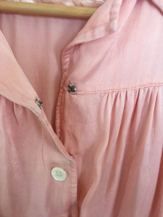 50s satin blouse - image 5