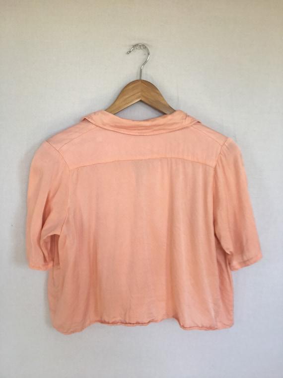 50s satin blouse - image 3