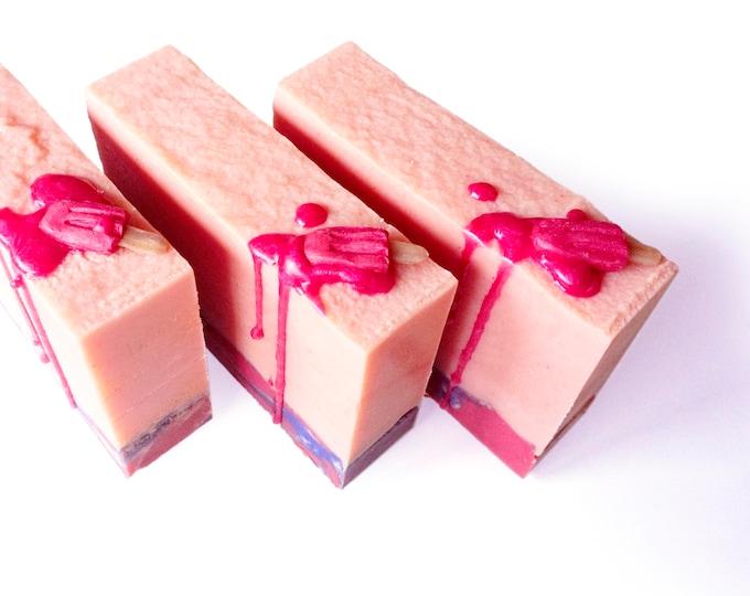 LILASUDS: Soapcicle cold process soap- sugared strawberry popsicle soap