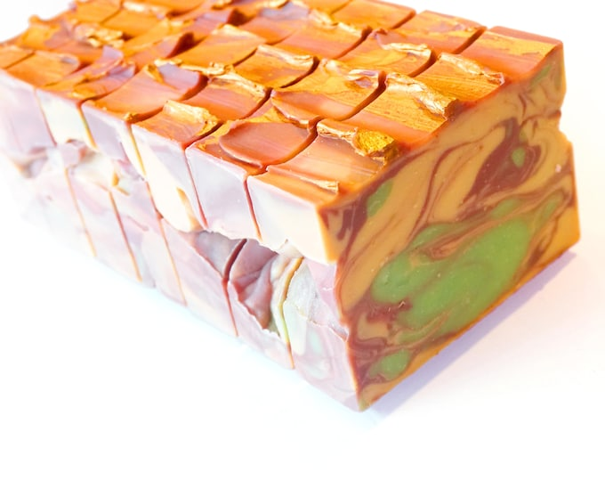 LILASUDS: Summer cold process apricot, currant, juicy pear and bergamot handmade artisan soap