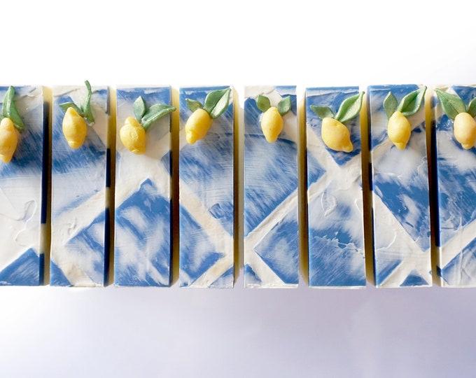 LILASUDS: Limoncello cold process Italian lemon liqueur, lemon verbena, and lemon curd handmade artisan soap