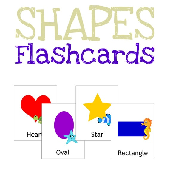 Shapes Flashcards Card Games Printable Worksheet Preschool Learning Activity Homeschool Teaching Resources Toddlers Quiet Busy Book