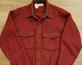 d825dd6dde4 Vintage LL Bean Northwoods Wool Shirt Jacket