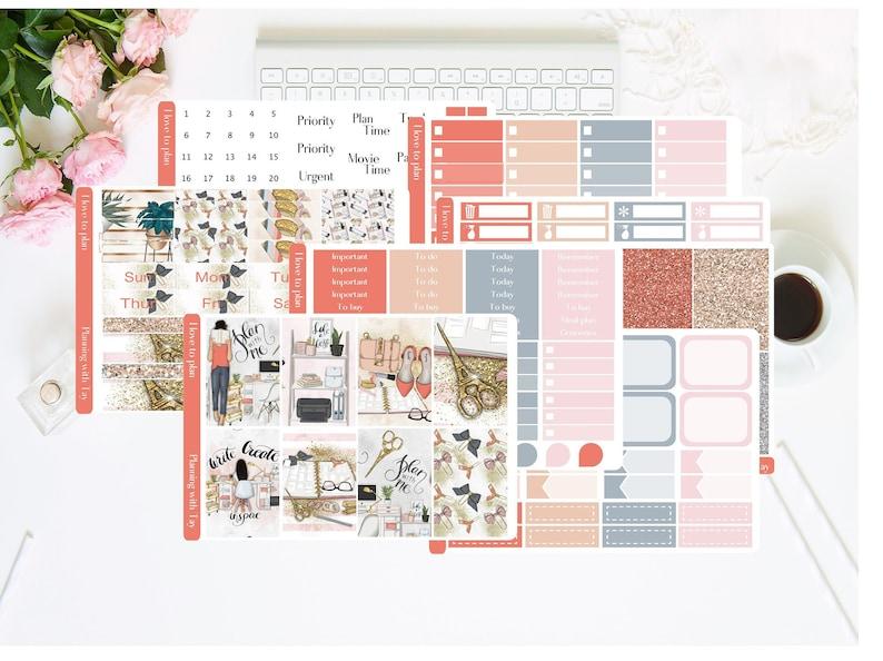 I Love To Plan  EC /& HP Stickers Girl Planner Kit Office Life Weekly Sticker Kit Erin Condren Planner Stickers