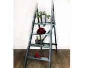 Blue Painted Display Ladder