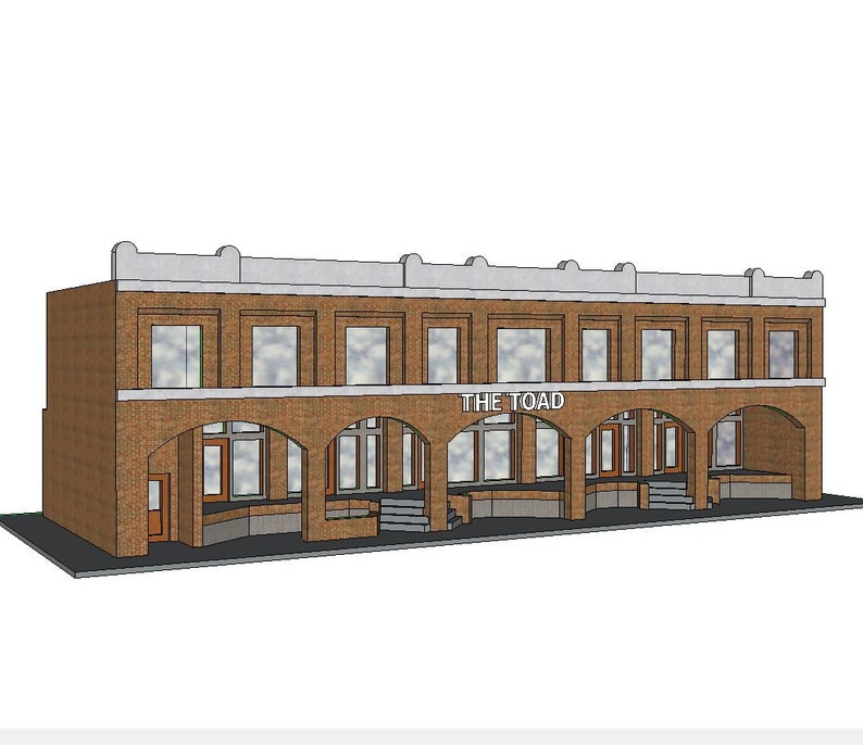picture regarding Printable Model Railroad Buildings identify N Scale Designing #5 (fixed) - Fashion Designing Package - 3D Released within just PLA Plastic - for Fashion Railroad or Diorama