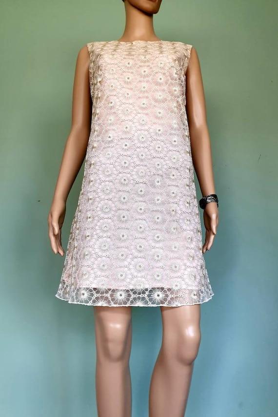 Naf Naf dress lace pink gold Size 40