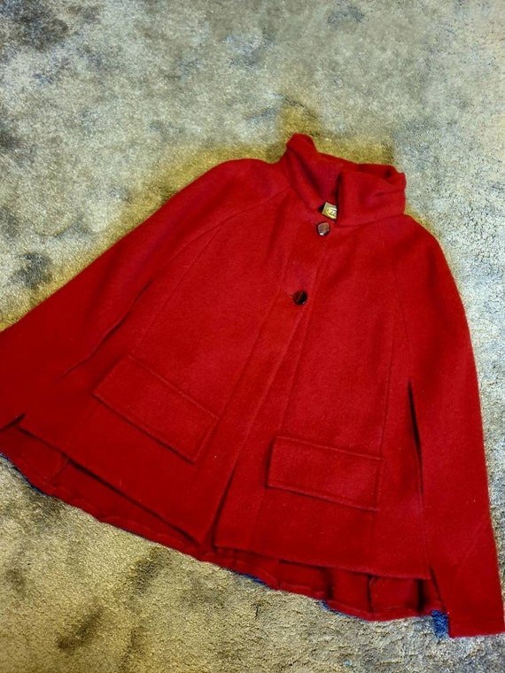 Red cape 100% wool  red riding hood