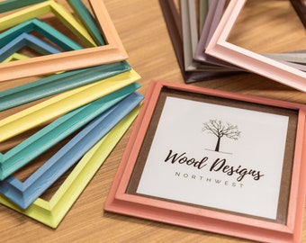 """Wood Picture Frames, Painted Wood Frames, Wood Picture Frame, Picture Frame, Painted Douglas Fir, 5/8"""" Wide, Home Decor, Living Room"""