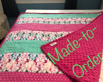 Made-to-Order Custom Minky Cuddle Blanket/Quilt