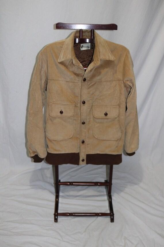 Vintage Men's LEVIS Panatela Brown Cordoroy Lined
