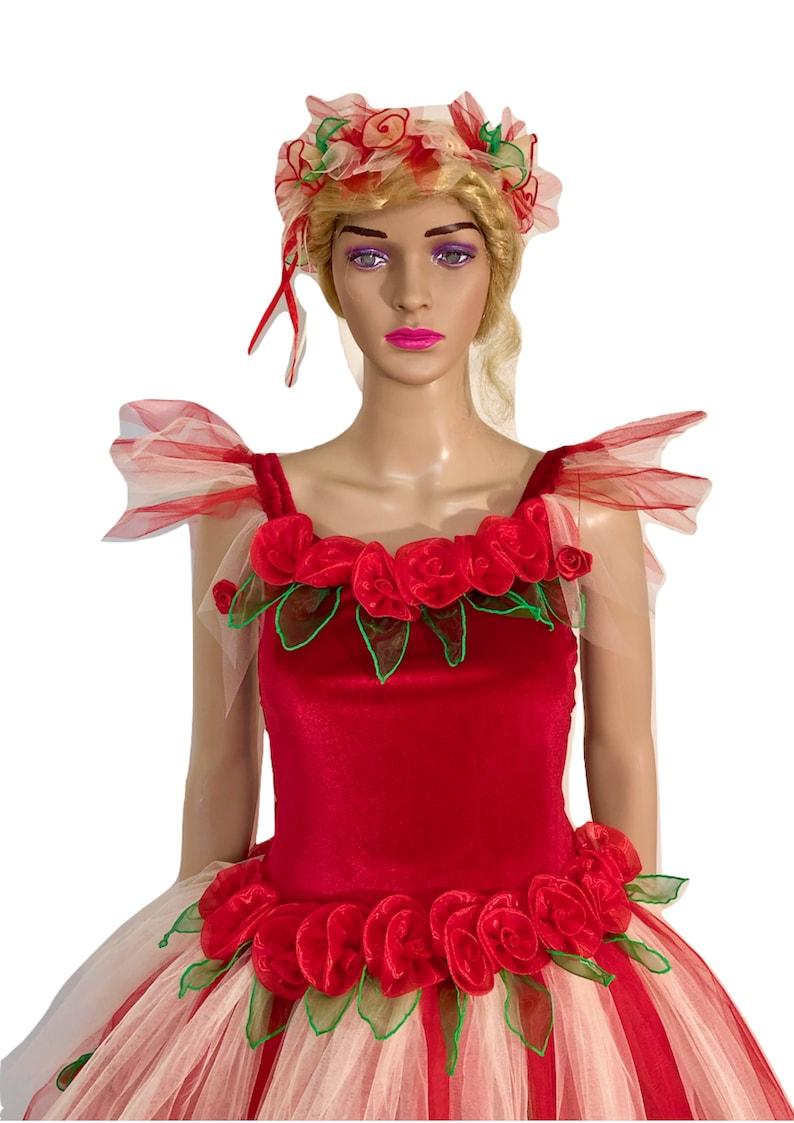 Velvet Red Waratah Women/'s Adult Fairy Dress Costume  Christmas Fairy