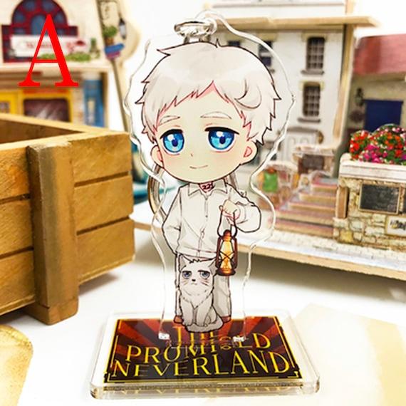 Yakusoku no The Promised Neverland Emma Norman Ray Keychain Stand Charms Sa