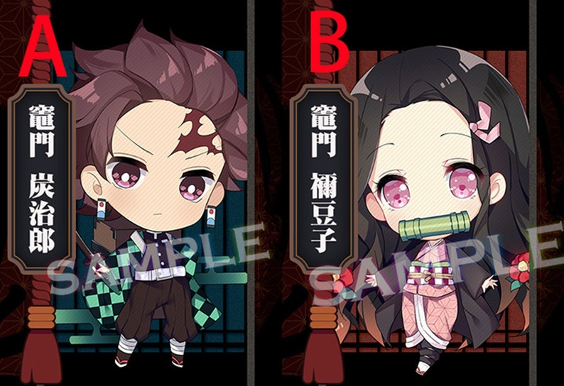 Blade of Demon Destruction Japan Anime Accessories Acrylic Keychain Nezuko  Tanjiro Kamado Decoration Display Gift Bag Case Collection New