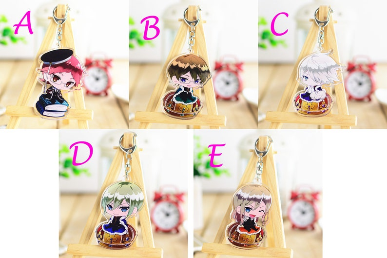 The Royal Tutor Japan Anime Keychain Heine Bruno Kai Leonhar Licht Gift  Hand Bag Pendant Case Purse Decoration Display Collectible Hot