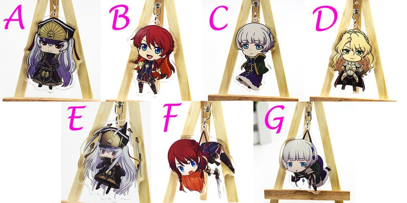 Re: Creators Japan Anime Acrylic Clear Keychain Altair Selesia Meteora  Alicetaria Pendant Bag Case Gift Decoration Display Sign Lanyaards