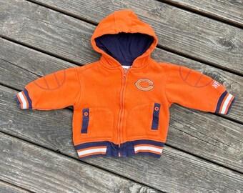 Vintage Chicago Bears Zip Hoodie