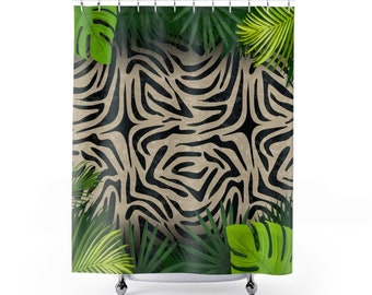 Animal Print Zebra Tiger Cow Farm Shower Curtaingift Curtainbathroom Curtainshower Curtain Artbath