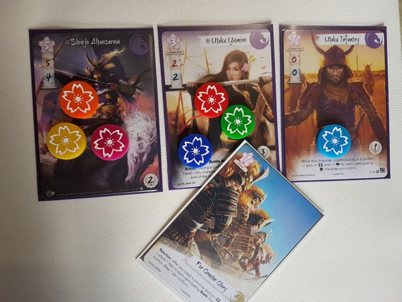 Mini Tokens and Storage For The Legend of The Five Rings LCG