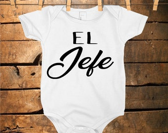 0e4538d07 El Jefe Baby Onesie, Baby Boss Onesie, The Boss Baby Onesie, Funny Onesie,  Baby Shower Gift, Spanish Baby Onesie, Ropa para Bebe,