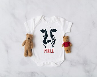 0a9ff4b0b Moo...d Cow Farm Baby Onesie® - Country Baby Shower Gift, Baby Girl Onesies,  Unisex Baby Clothes, Southern Baby Onesies, Farmer Baby Onesies