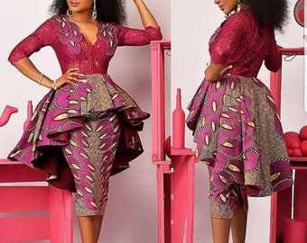 44bcac310a68 African home coming dress,african Wedding guest dress,african party dress, african clothing for women plus size,ankara dress,ankara clothing