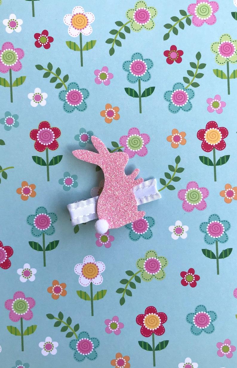 Glitter bunny clips