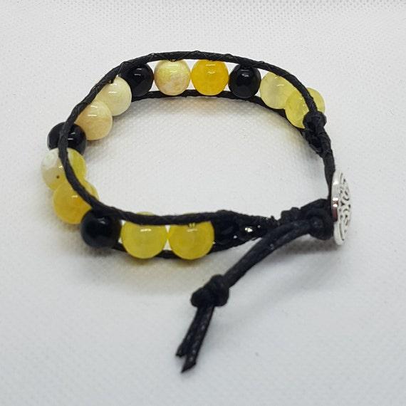 Yellow & Black Wrap Bracelet