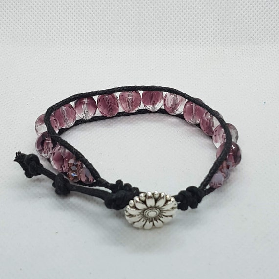 Single Wrap Purple Bracelet