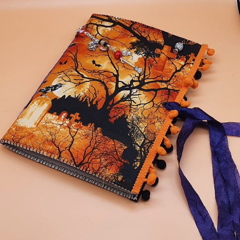 Halloween Journal Handmade  Soft Covered Junk Journal  image 0