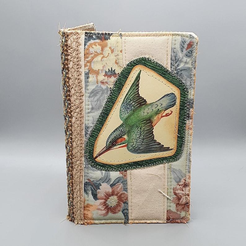Handmade Edith Holden Fabric Traveller's Notebook image 0