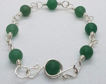 Aventurine Bracelet in Silver