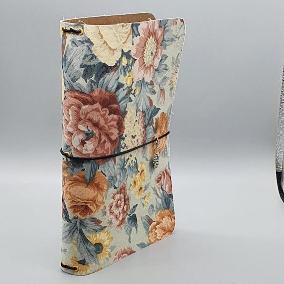 Handmade Blue Floral A5 Traveller's Notebook