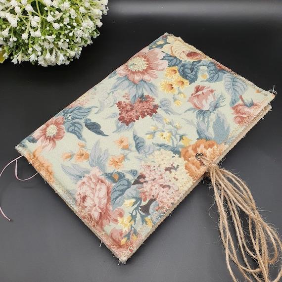 Blue Floral, Unembellished, Junk Journal