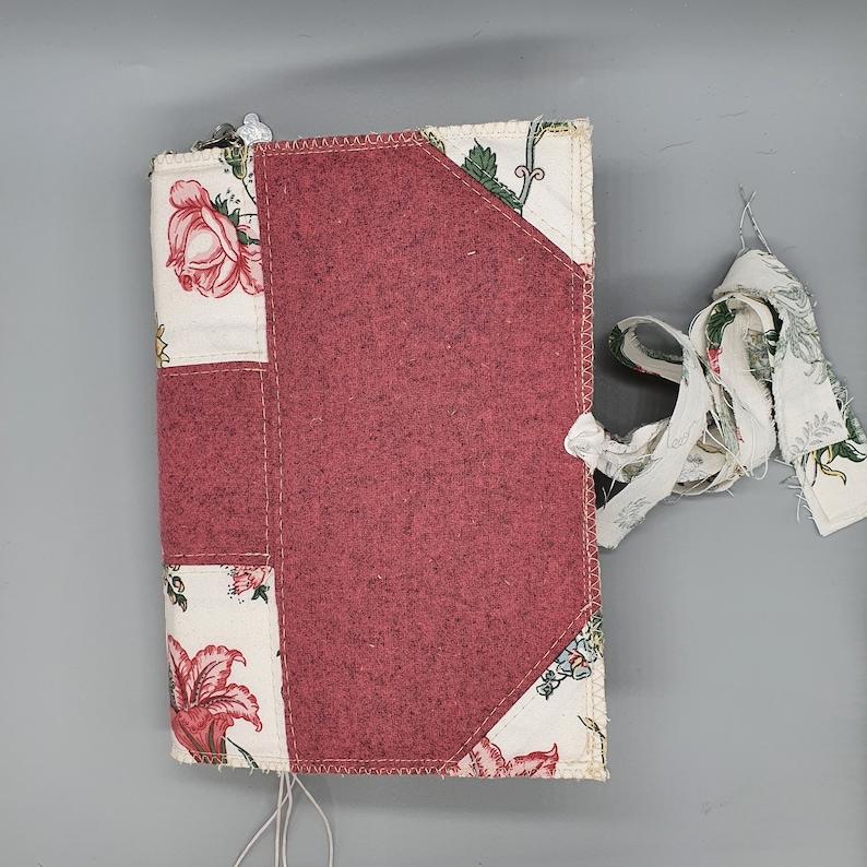 Pink Floral Junk Journal Handmade Escapism Journal Self Care image 0