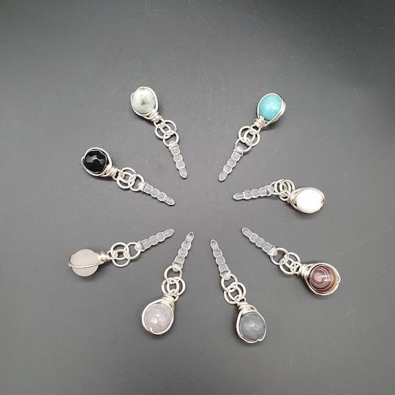 Gemstone Dust Plug Charm (Silver)