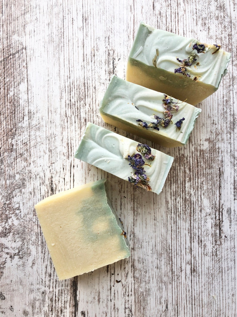 photo of handmade Elderflower and Oatmeal Scrub Soap