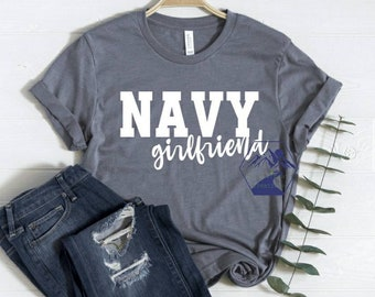 Navy Denim Shirt I Love My Sailor U.S