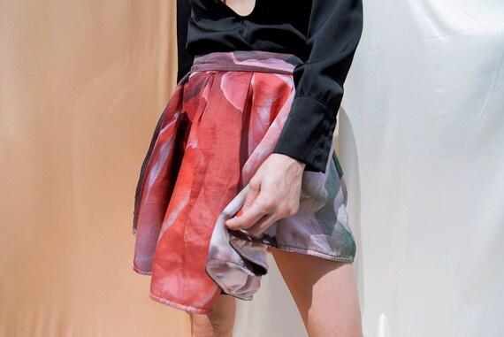 Flower Avant Garde Y2K Skirt