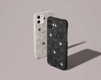 Compostable Case, 100% Biodegradable Eco-friendly Phone Case, Boho Simple Florals Sustainable Phone Case for iPhone & Samsung (BIO 02)