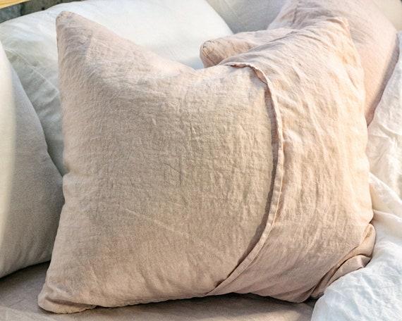 Blush pillows Linen pillow covers | Etsy