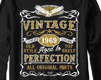 abb00549 Made in 1969 Vintage Jumper, 50TH Birthday Party Age Year Cheapest Gift Top  Birthday Gift
