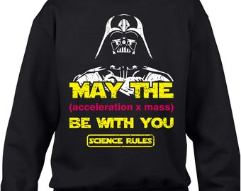 best service e9991 a3cc1 Star Wars Jumper, Star Wars Giant Darth Vader May The Acceleration x Mass  Party Party Wear Gift Adult and kids Sizes Jumper Top