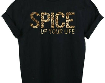 301251704 SPICE up YOUR LIFE TShirt Girl Power Scary Girls Adult T-shirts Ladies  T-shirts (S-2XL) size (6-14/16)