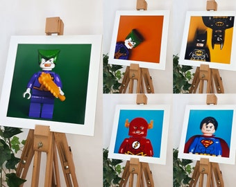 """Mounted prints to fit 12""""x12"""" frame of Super heros DC Comics"""