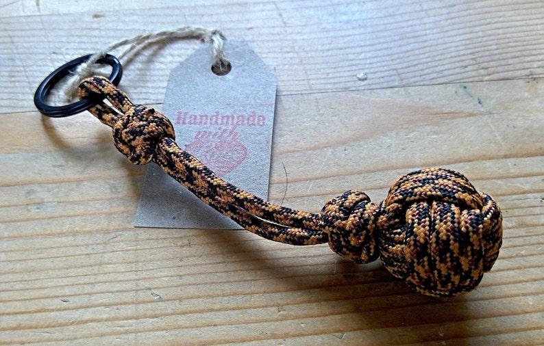 Small Monkey Knot /& Lanyard Knot Keyfob