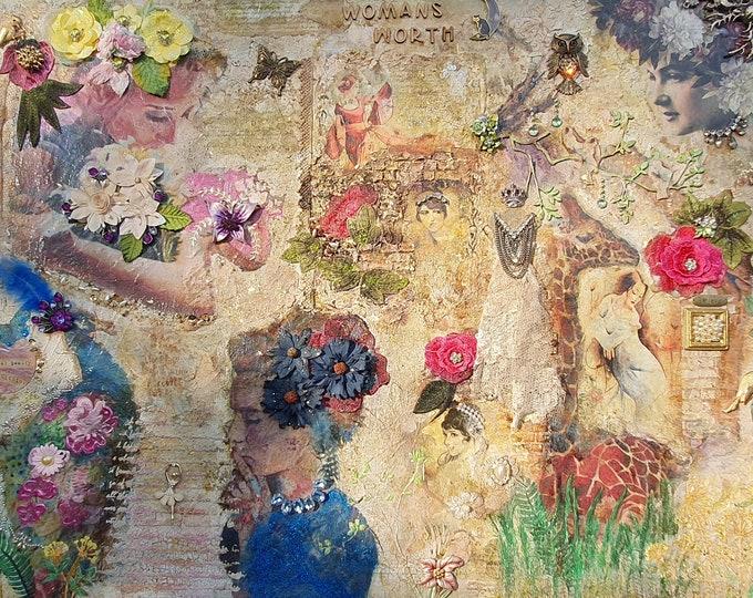 Vintage Wall Art Womans Worth