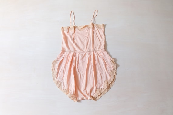 Vintage 20s Pink Playsuit Teddy