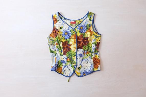Vintage 80s 'Kenzo' Floral Waistcoat